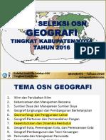 Soal Dan Kunci OSK Geografi 2016