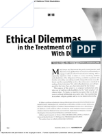 Ethical Dilemmas in the Treatment of Children With Disabilities