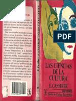 Las Ciencias de La Cultura, E. Cassirer