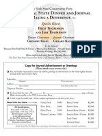 2010 Dinner Journal Ad Order Form