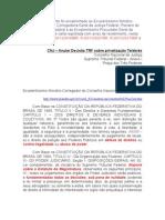 CNJ - Lei de Gerson e a Privatização da Telebrás