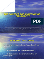1 the Concept and Function of Philosophy