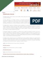 Latindex requisitos