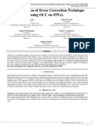 Implementation of Error Correction Technique Using OCC on FPGA