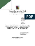 Grabacion Edicion y Master