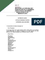 Acta Congreso Futbol 5 La Copa Del Rey