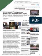 Ofensiva Contra El Magisterio y Preparativos Electorales Hacia El 2016