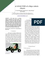 Analysis of Baja Chassis