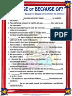 because or because of esl grammar exercise worksheet.pdf