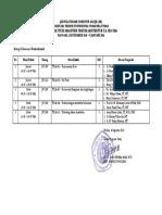 Jadwal Kuliah Profesi III