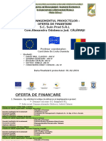 Managementul Proiectului - Oferta Finantare
