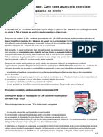 Infotva.manager.ro-vanzare Cu Plata in Rate Care Sunt Aspectele Esentiale Privind TVA-ul Si Impozitul Pe Profit