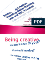 Embedding Creative Thinking