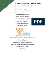 Designing of 3 Phase Induction Motor Blackbook Done (1)