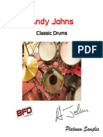 Andy Johns Classic Drums Manual