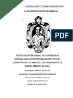 ACTITUD DEL PROFESORADO DE LA UNIVERSIDAD CATÓLICA SANTO TORIBIO DE MOGROVEJO ANTE LA ACEPTACIÓN DEL E-COMMERCE COMO HERRAMIENTA DE COMPRA PERIODO 2013-2014ón cualitativa