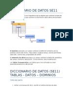 Diccionario Tablas Y mantenimiento