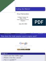 Coding the Matrix