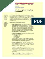 Acceptance Sampling 6.2.2