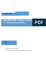 Carta Descriptiva Nuevo Testamento v Literatura Juanina