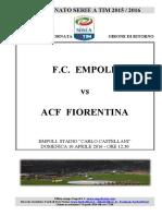 Empoli Fiorentina 32giornataseriea