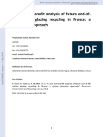 A Cost and Benefit Analysis of Future End of Life Vehicle Glazing Recycling in France A