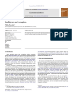 Intelligence and Corruption, Potrafke 2011 (EL)