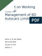 BD Autocars Final Report