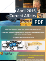 8 April 2016 Current Affairs for Competition Exams