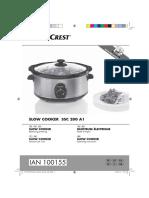 Slow Cooker Silvercrest - Istruzioni