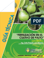 Guía Técnica. Fertilización en El Cultivo Del Palto