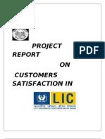 Customer Satisfaction in LIC