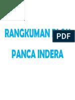 Rangkuman Blok Panca Indera