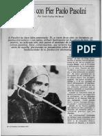 Diálogos con Pier Paolo Pasolini - Entrevista en El Porteño 1983