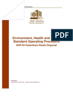 QU EHSMS Standard Operating Procedure 04 - Hazardous Waste Disposal