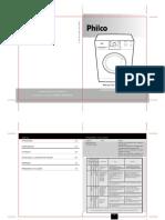 Manual Da Lavadora Philco PHLR 6