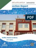 KHDA Raffles World Academy 2014 2015