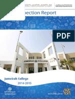 KHDA Jumeirah College 2014 2015