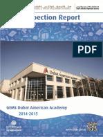 KHDA Gems Dubai American Academy 2014 2015