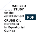 1. Summarized Case Study - Crude Oil Refinery