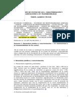 VERON, Alberto v. - La Cesi%F3n de Cuotas de S.R.L. Caracterizaci%F3n y Limitaciones a Su Transmisibilidad