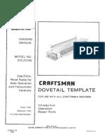 Craftsman Dovetail Jig L0804094
