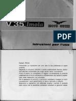 V35 Imola Uso e Manutenzione 1980