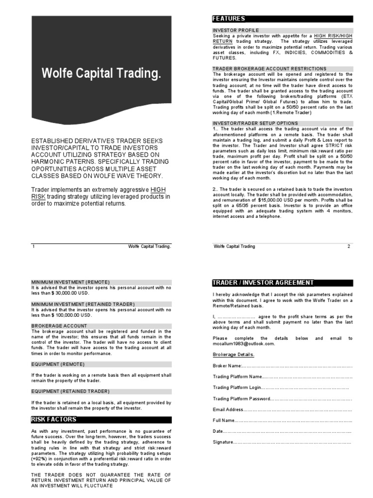 WolfeWave Trader | Investor | Futures Contract
