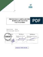 Protocolo Cadena de Frío Bodega de Vacunas