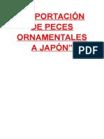 Exportación de Peces Ornamentales a Japón Whendy Parte 1