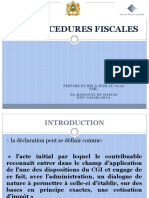 Procédures Fiscales 2016 Techniciens