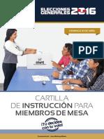 Cartilla de Instrucciones de Miembros de Mesa