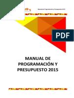 Manual Programacion Presupuesto Final 2015