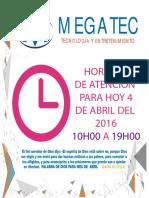 Megatec Horarios 09ABR2016